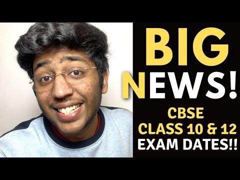 BIG NEWS !! | CBSE Class 10 and 12 Exam Dates !!