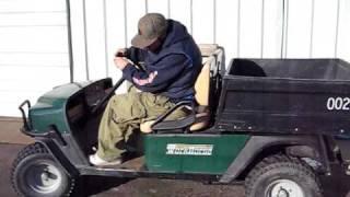 golf cart utility 24hp test run