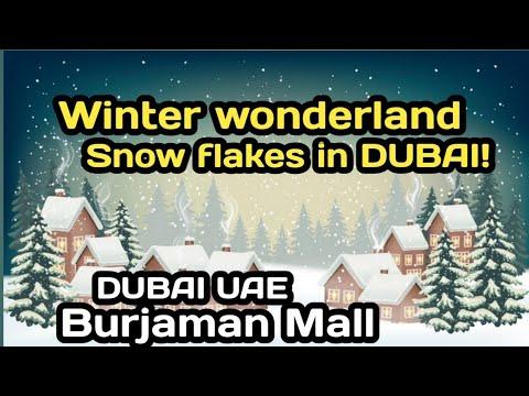 Winter wonderland in Dubai UAE|Burjaman mall | Biglang Nag Snow