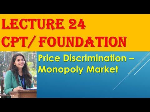 CA CPT Economics/ Foundation:- PRICE DISCRIMINATION- Monopoly market