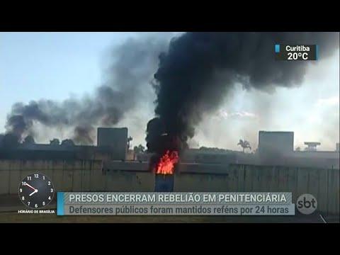 Após 24 horas, termina a rebelião na Penitenciária de Lucélia   SBT Brasil (27/04/18)