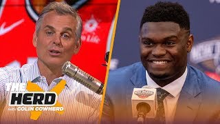 Colin makes his case for Zion being a superstar & Kawhi staying in Toronto | NBA | THE HERD