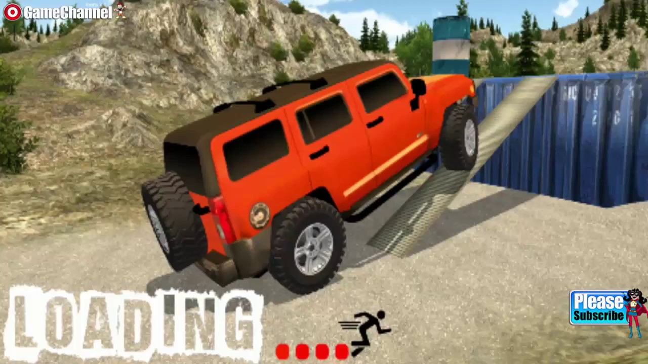 Offroad Hummer Jeep GT Stunts / Vehicle Stunts Driver / Android Gameplay  Video | hummer off road video