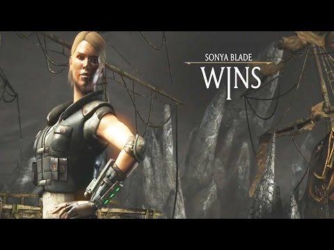 Mortal Kombat X - Sonya Blade All Fatalites/ Brutalities/ X-Ray Gameplay