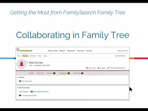 Collaborating in Family Tree - Kathryn Grant