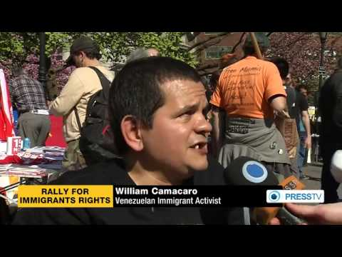 Immigrant Workers March Demanding Legalization