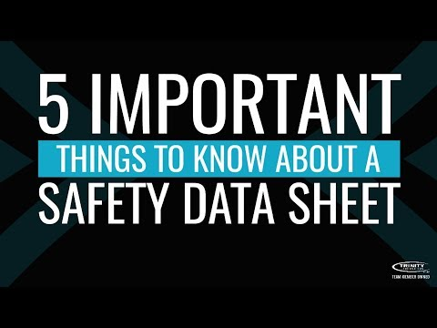 5 Important Things To Know About A Safety Data Sheet
