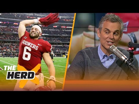 Colin reacts to Kristine Leahy's news on the Cleveland Browns eying Baker Mayfield   THE HERD