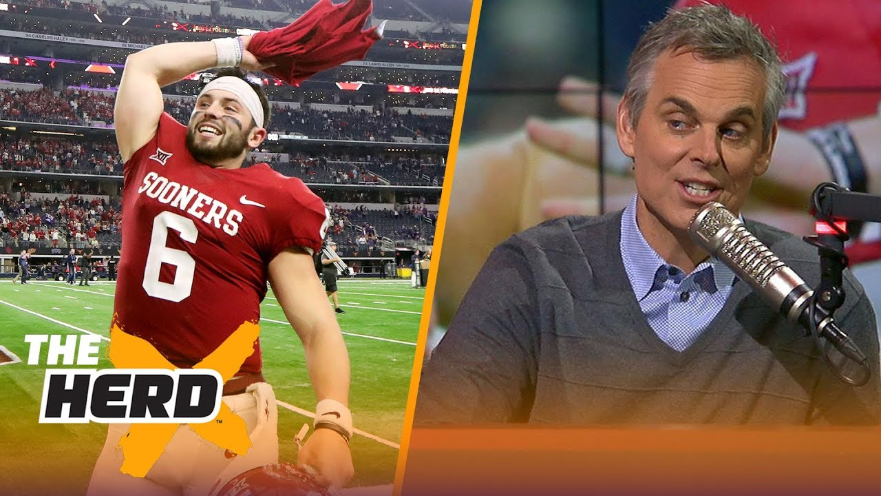 Colin reacts to Kristine Leahy s news on the Cleveland Browns eying Baker  Mayfield  b4b9cb4c1