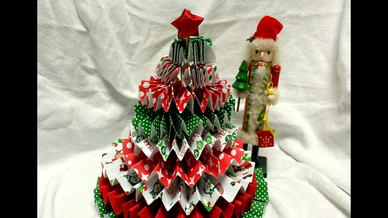how to make a paper rosette christmas tree