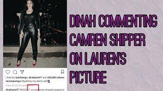 Dinah commenting camren shippers on Lauren's picture[nov 24 2017]