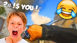 ANGRY LITTLE KID YELLS AT ME FOR KNIFING HIM! 😂 - COD WW2 (Funny Moments & Rage Reactions)