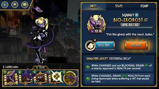 Skullgirls Mobile - Evolving Bio-Exorcist to Diamond