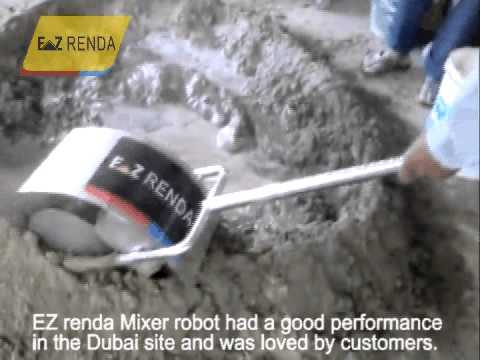 Mini Mixer robot -Mini concrete mixer portable in Dubai mixing cement