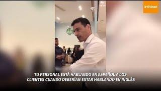 Abogado racista de Nueva York que increpó a empleados por hablar español