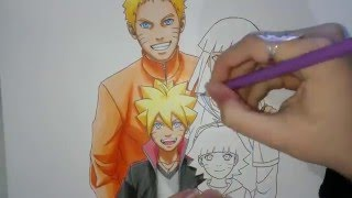 Speed Drawing - Uzumaki Family (Naruto, Hinata, Boruto and Himawari)