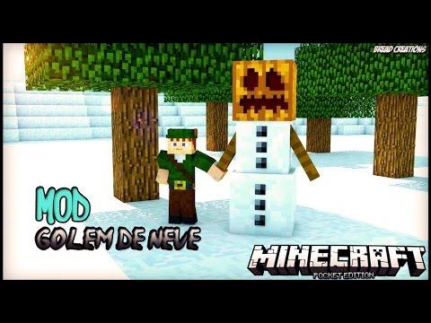 Minecraft PE 0.11.1 - Golem De Neve Mod Review Completo