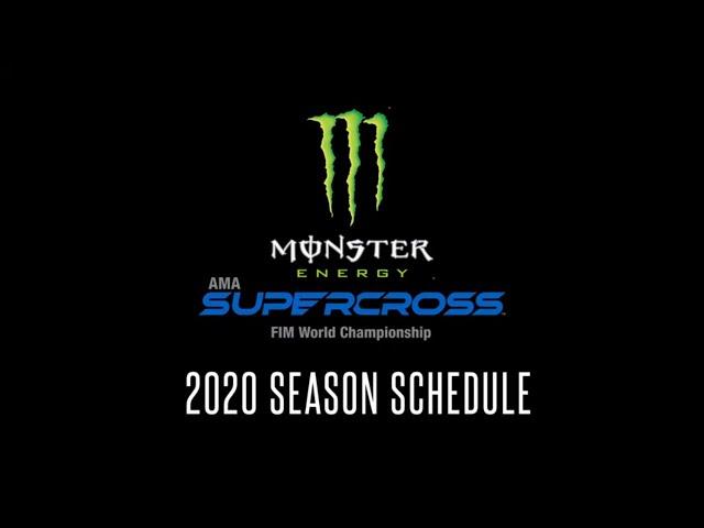 2020 Supercross Racing Schedule Announced!