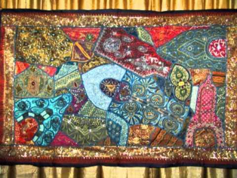 Indian Tapestry Wall Hanging vintage sari wall hangings indian tapestries - youtube