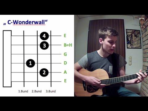 Wonderwall auf Gitarre lernen (Tutorial)