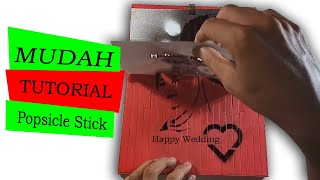 Foto Siluet Wedding   Popsicle   STIK HANDCRAFT