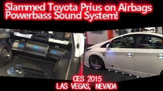 Slammed Toyota Prius SSR Hybrid on Airbags - Powerbass Sound System!