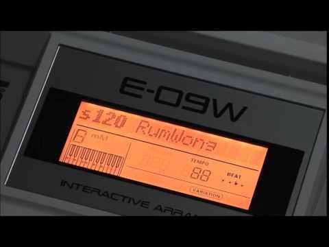 จังหวะเพลงแบบไทยๆ ที่มีใน Roland E-09W