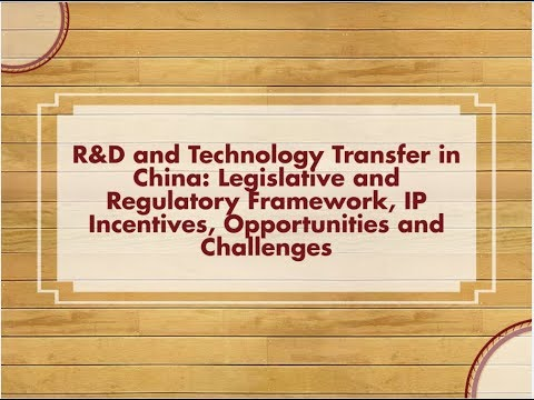 Training: R&D and Technology Transfer in China - Italian