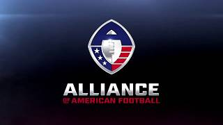 Alliance of American Football AAF Graphic Logo with Theme Music