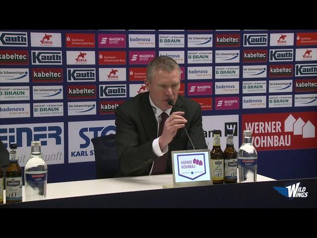 Pressekonferenz: Schwenninger Wild Wings-Fischtown Pinguins Bremerhaven
