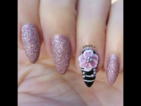 How To Create A 3d Flower With 3d Gel Nail Art Youtube