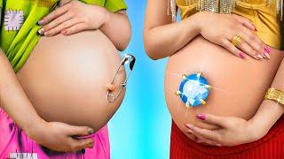 Супербогатая беременная VS Бедная беременная
