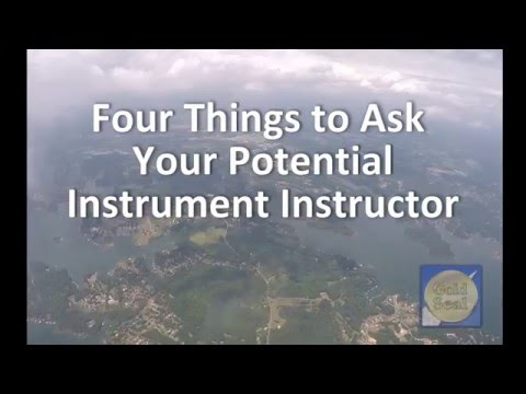 Four Questions to Ask your New Instrument Instructor