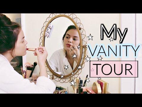 Vanity Tour | Makeup Vanity Table, Organization & Storage