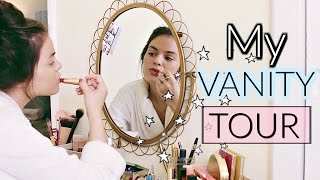 Vanity Tour | Makeup Vanity Table, Organization & Storage
