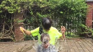 Bursting a Water Bomb Balloon in Slow Motion over H's and Bobstinator's head