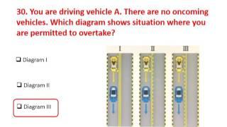 Part 2 -  RTA Theory Test 2017 Practice LMV Light Motor Vehicle Dubai UAE (English)