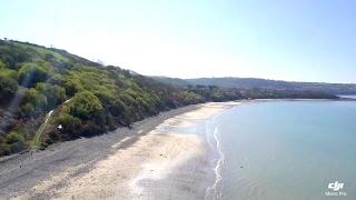 A sunny Cei Bach beach and Little Quay Bay near New Qua, Ceredigion - Wales