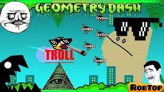 !!NIVEL TROLL!!- geometry dash!!Rana troll ! illuminati