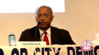 Thompson Speaks at Mayoral Debate at Co-Op City