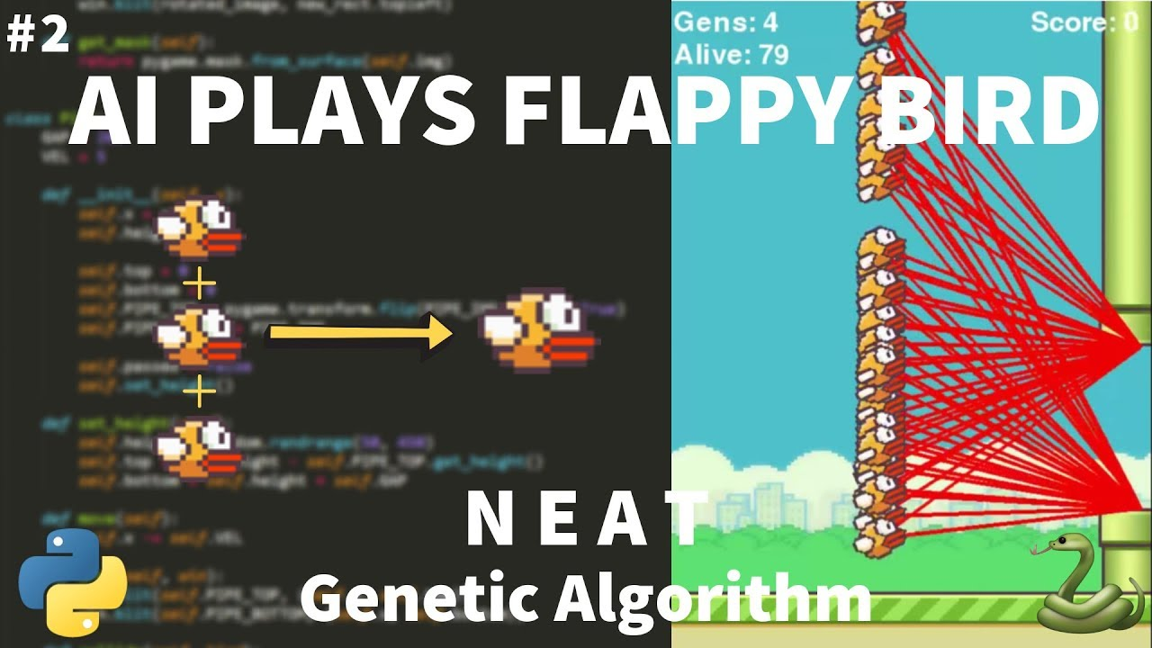 Python Flappy Bird AI Tutorial (with NEAT) - Moving Birds