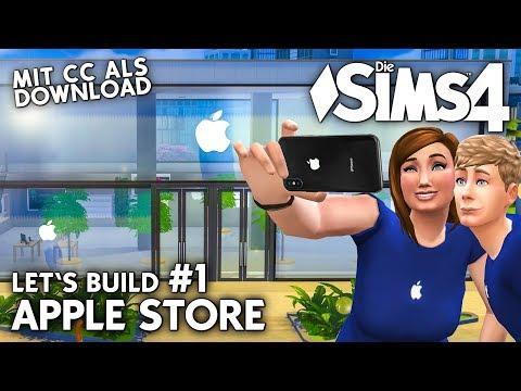 Die Sims 4 Apple Store bauen | Let's Build #1 mit Apple CC-Objekten als Download
