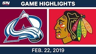 NHL Highlights | Avalanche vs. Blackhawks - Feb 22, 2019