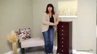 Vintage Inspired 7 Drawer Jewelry Armoire - Espresso - Product Review Video
