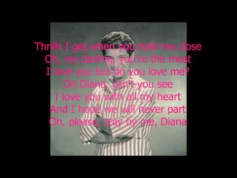 """""""Diana"""" By: Paul Anka (Lyrics)"""