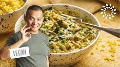Mangold mit Kurkuma-Reis