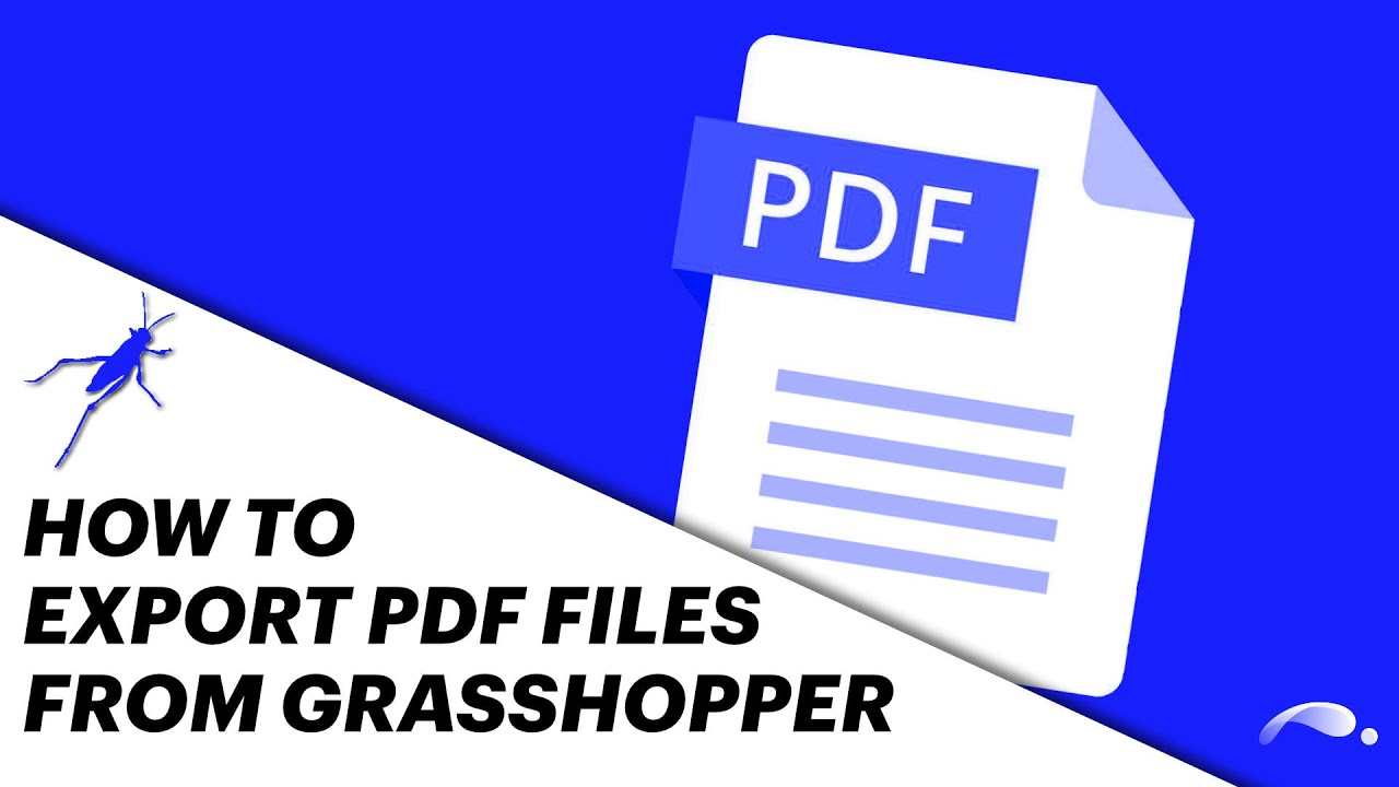 How To Export PDF Files From Grasshopper
