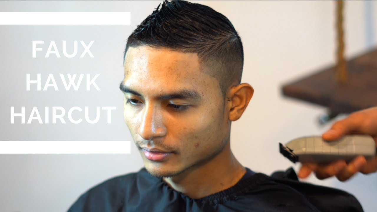 cut faux hawk fade tutorial