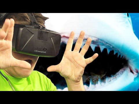 VIRTUAL REALITY SHARK ATTACK! (Oculus Rift Funny Moments)