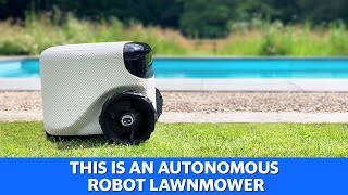 Robot lawnmower mows your lawn for you